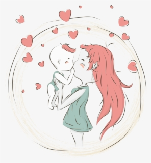 Mother Cartoon Child Mom And Baby Cartoon Png Free Transparent Clipart Clipartkey
