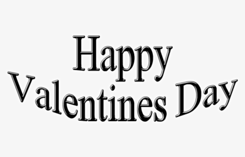 Happy Valentines Day Plain, Transparent Clipart