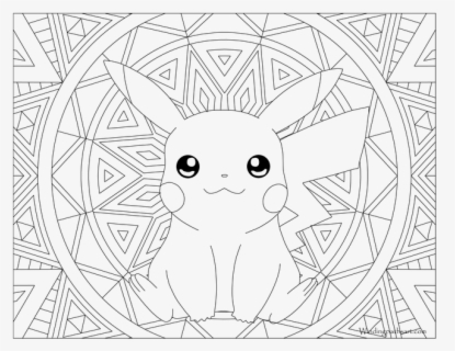 Hard Pokemon Coloring Pages Adult Pokemon Coloring - Pokemon Coloring Pages  , Free Transparent Clipart - ClipartKey