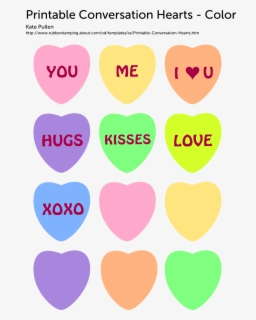 Valentine Candy Hearts Printable, Transparent Clipart