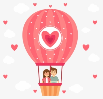 Clip Art Black And White Stock Hot Air Balloon - Hot Air Balloon Love Png, Transparent Clipart