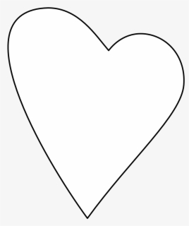 Another Heart Sheet Page Black White Line Art 555px - Transparent Background White Heart Icon Transparent, Transparent Clipart