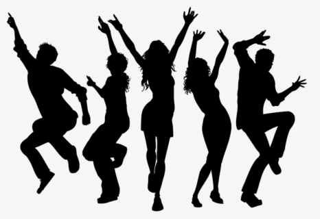 Silhouette Png Download Silhouette Dance Party Png Free Transparent Clipart Clipartkey