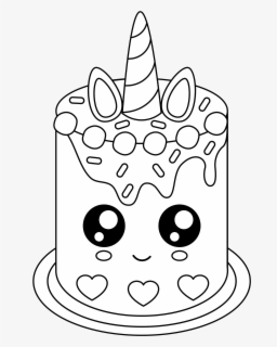 Tremendous Free Cute Unicorn Cake Unicorn Cake Coloring Pages Free Funny Birthday Cards Online Overcheapnameinfo