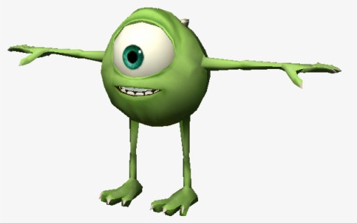 Download Zip Archive Mike Wazowski T Pose Free Transparent Clipart Clipartkey