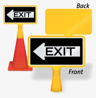 Exit Signs With Arrows - Exit With Left Arrow , Free ...