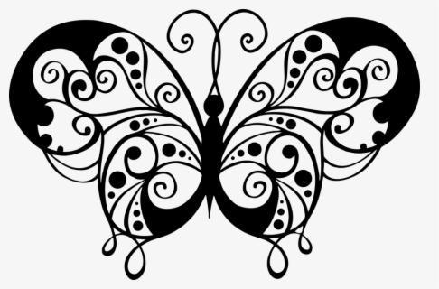 Vector Free Clipart Black And White Butterfly Gambar Kupu Kupu Hitam Putih Free Transparent Clipart Clipartkey