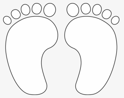 Free Baby Feet Black And White Clip Art With No Background Clipartkey