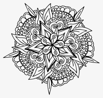 Floral Line Art Big Zentangle Turtle Coloring Pages Free Transparent Clipart Clipartkey