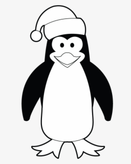 Christmas Images Clipart Black And White.Free Penguin Black And White Clip Art With No Background