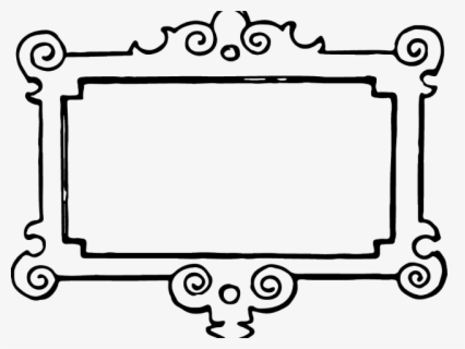 Free Picture Frame Black And White Clip Art With No