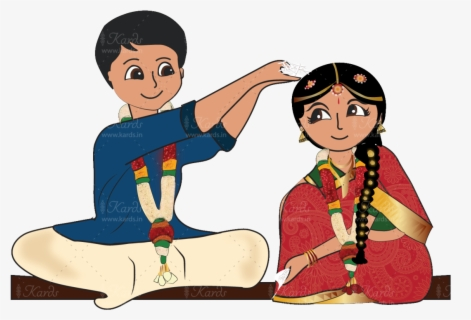 Indian Wedding Couple Png Cartoon Indian Bride Png Free Transparent Clipart Clipartkey