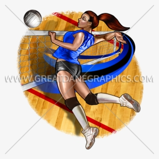 Stylized Line Design Female Volleyball Player Stock Vector (Royalty Free)  1081147556