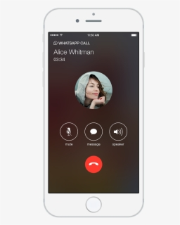 Video Call Snapshot 3 Png Iphone Whatsapp Call Screen Free Transparent Clipart Clipartkey