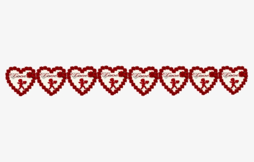 Borders For Valentines Day, Transparent Clipart