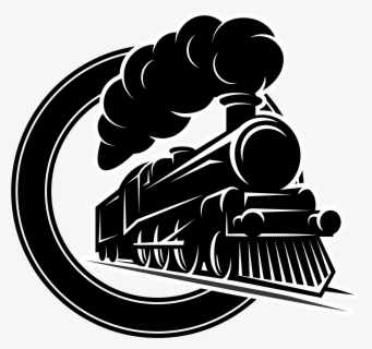Locomotive Railway Train Vector Engine Train Black And White Clipart Free Transparent Clipart Clipartkey
