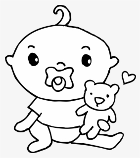 Free Coloring Pages Baby Boy Coloring Pages Baby With Pacifier Clipart Free Transparent Clipart Clipartkey