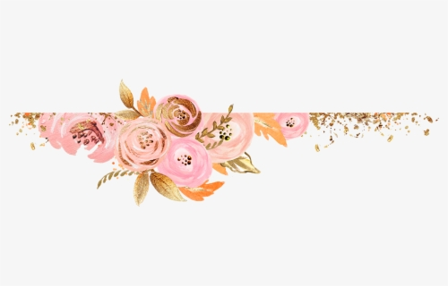 Watercolor Flowers Rose Gold Png Free Transparent Clipart Clipartkey