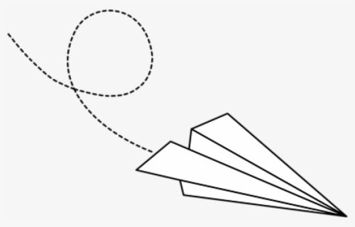 paper airplane silhouette png