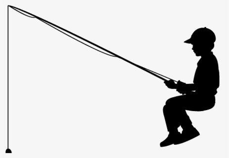Fishing Boy Silhouette Free Transparent Clipart Clipartkey