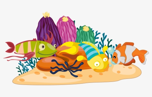 Clip Art Cliparts For Free - Underwater Coral Reef Clipart, HD Png Download  - kindpng