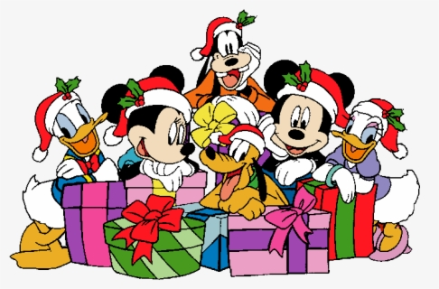 Mickey And Friends Christmas Clipart Png Download Disney World Christmas Clip Art Free Transparent Clipart Clipartkey