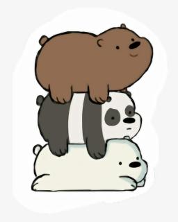 Transparent Panda Bear Clipart Black And White We Bare Bears Panda Stickers Free Transparent Clipart Clipartkey