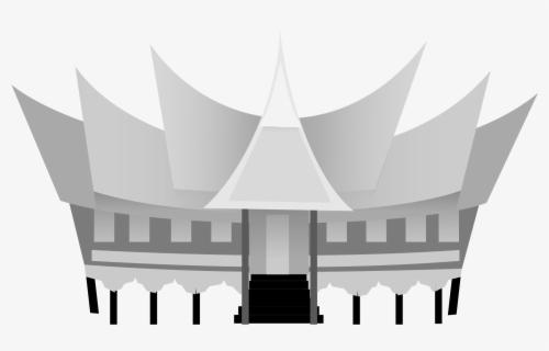 Traditional House Clip Arts Rumah Adat Sumatera Barat Kartun Free Transparent Clipart Clipartkey