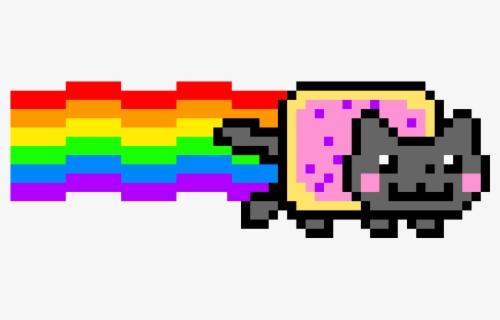 Nyan Cat Youtube Pixel Art Easy Pixel Art Minecraft Grid Free Transparent Clipart Clipartkey