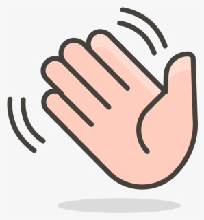 Hand Wave Clip Art At Clker - Waving Hand Png Gif , Free ...