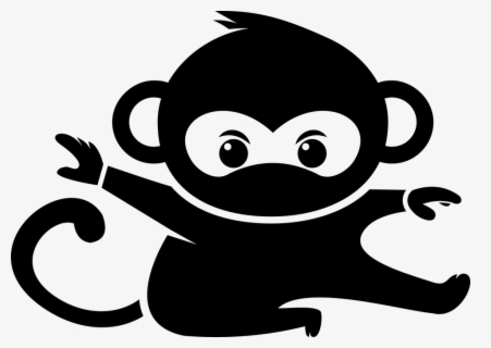 Free Monkey Silhouette Clip Art With No Background Clipartkey