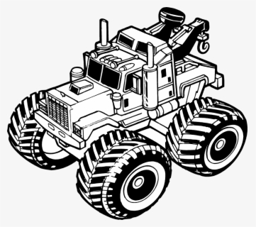 Free Monster Truck Black And White Clip Art With No Background Clipartkey