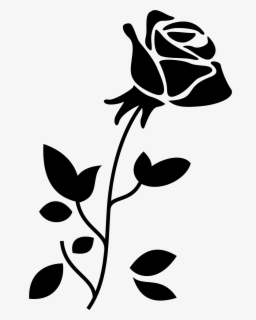 Black And White Rose Bunga Mawar Hitam Putih Free Transparent Clipart Clipartkey