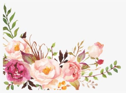 Floral Border Design Watercolor Hd Png Download Watercolor