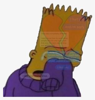 Sad Text Bart Broken Brokenheart Aesthetic Bart Simpson Crying Png Free Transparent Clipart Clipartkey
