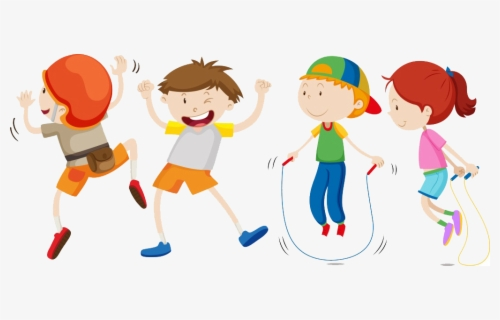 Transparent Jump Roping Clipart - Free Clip Art Black And White Jump Rope,  HD Png Download - kindpng