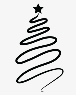 Free Christmas Tree Black And White Clip Art With No Background Clipartkey