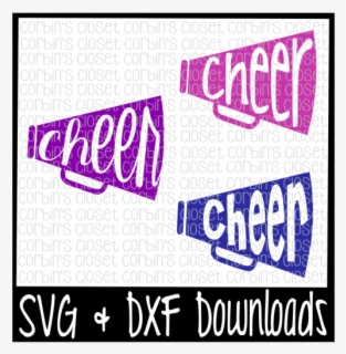 Download Cheer Svg * Cheer Monogram Svg * Megaphone Cut File SVG