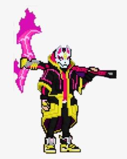 Get Dark Pixel Art Grid PNG