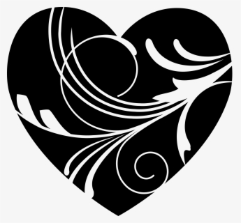 Free White Heart Cliparts Download Free Clip Art Free - Black Valentines Day Heart, Transparent Clipart