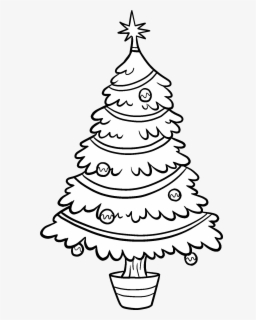 Clipart Christmas Tree.Free Christmas Tree Black And White Clip Art With No