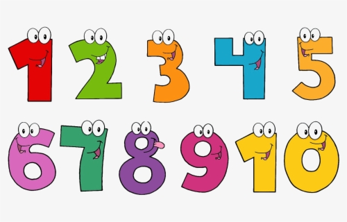 Math Clipart Counting - Numbers Clipart Transparent Background , Free  Transparent Clipart - ClipartKey