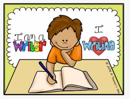 Child Writing Clipart - Kids Writing Clip Art , Free Transparent Clipart -  ClipartKey