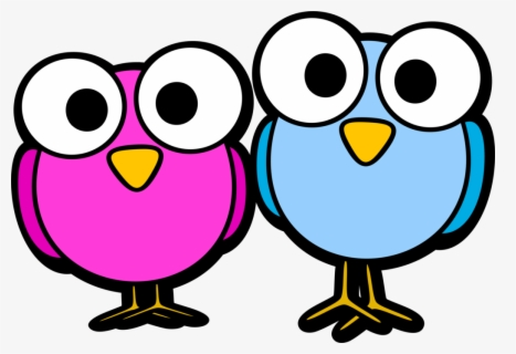 Animated Bird Clipart Cartoon Cute Animals With Big Eyes Free