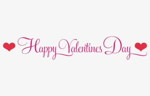 Happy Valentines Day Black And White Clipart Transparent - Happy Valentines Day Simple, Transparent Clipart