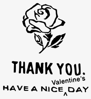 Black And White Valentines Day Clipart - Have A Nice Valentine's Day, Transparent Clipart