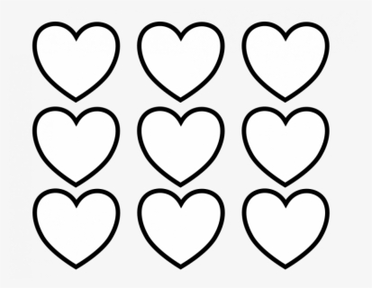 Free, Printable Valentine Heart Coloring Page For Kids - Valentines Day Hearts Coloring, Transparent Clipart