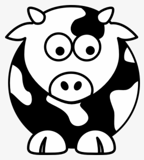 Free Cow Black And White Clip Art With No Background