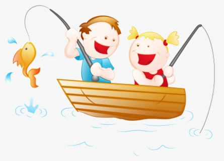 Fisherman Boat Clipart Fisherman In The Boat Cartoon Free Transparent Clipart Clipartkey