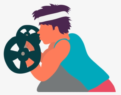Weightlifting Clipart #1186213 - Illustration by Lal Perera
